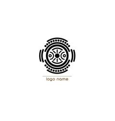 Logo indigenous ethnicity tribal concept vector