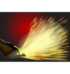 manufacturing sparks vector image