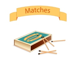 Matchboxes and matches vector