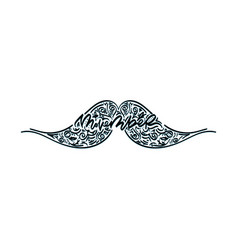 movember cancer awareness icon vector image