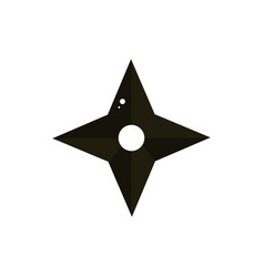Ninja shuriken samurai weapon japanese symbol icon vector