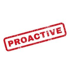 Proactive Rubber Stamp vector
