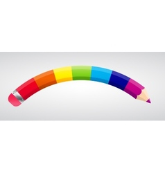 Rainbow pencil vector