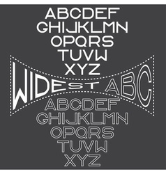 Retro wide alphabet for labels vector
