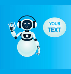 Robot virtual assistance chat bot vector