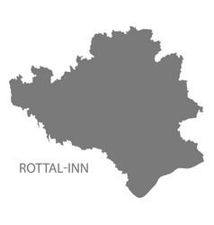 Rottal-inn grey county map bavaria germany vector