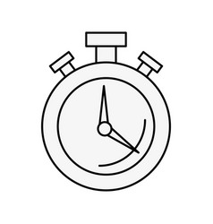 round stopwatch timer hour countdown vector image