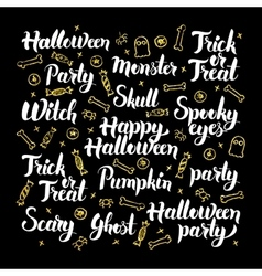 Scary Halloween Calligraphy Design vector image