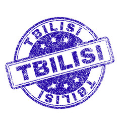 Scratched textured tbilisi stamp seal vector