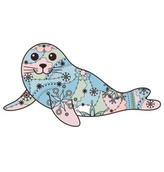 Seal pup colorful vector