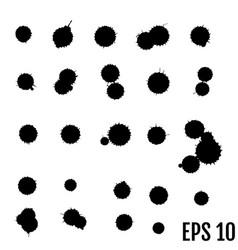 set of ink splashes blots splatter collection vector image