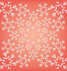 Shining snow winter christmas snowflake decoration vector