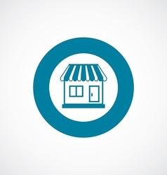 Shop icon bold blue circle border vector