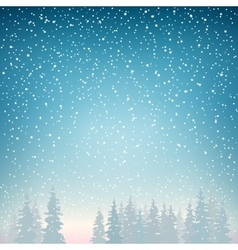 SnowfallSnowfall in the Forest vector image