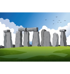 stonehenge in England vector image
