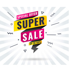 super sale mega flashup to 10 30 50 60 off vector image