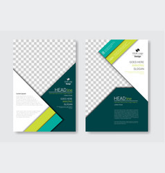 Template design brochure set annual report vector