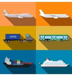 Transportation vehicles vector
