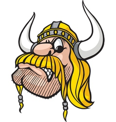 viking head vector image