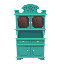 Vintage kitchen cupboard in baroque style vector