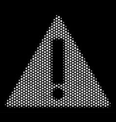 white pixelated warning icon vector image