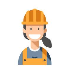 Worker woman flat vector