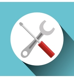 wrench and screwdriver vector image