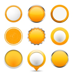 Yellow Round Buttons vector