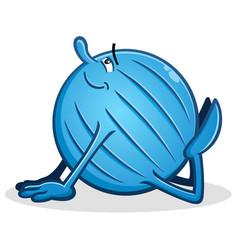 yoga ball cartoon king cobra pose vector image