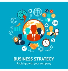 Business and management modern concept vector image