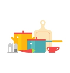 Cookware icon set vector image vector image