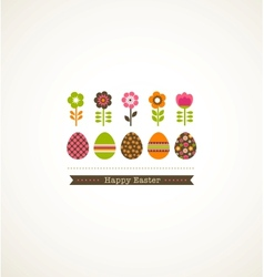 greeting card with floweres vector image