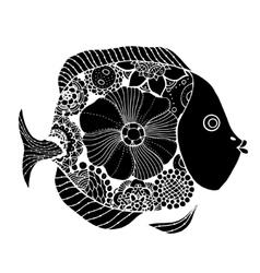 hand drawn fish vector image vector image