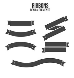 Ribbons Design elements vector image vector image