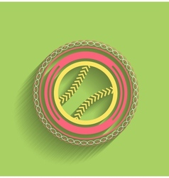 tennis ball icon flat modern icon vector image vector image