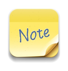 User interface note icon Eps10 image vector image vector image
