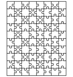 white puzzle 2 vector image vector image