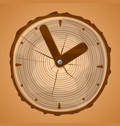 Wooden Clock vector image