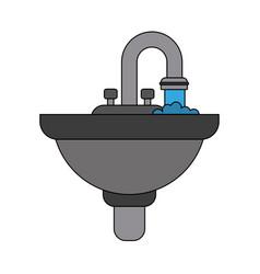 bathroom sink isolated vector image