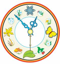 clock four season vector image vector image
