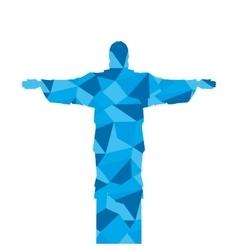 corcovado christ silhouette icon vector image