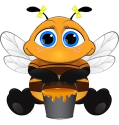 Cute little bee vector image