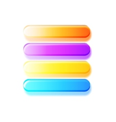 Glossy semi-transparent bars buttons vector image vector image