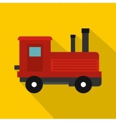 Locomotive icon flat style vector
