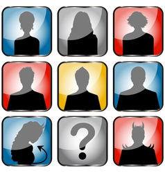 People avatars small vector image