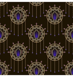 Seamless beautiful art deco pattern ornament vector image vector image