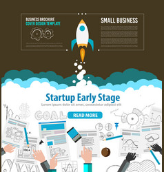 Startup Fly brrwn vector image vector image