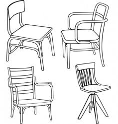 vector chair vector image vector image