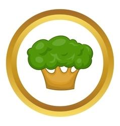 Big green tree icon vector image vector image
