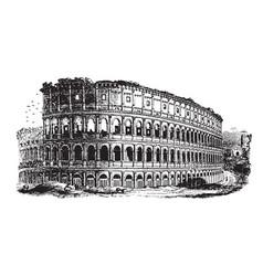 Colosseum an immense amphitheater built vintage vector